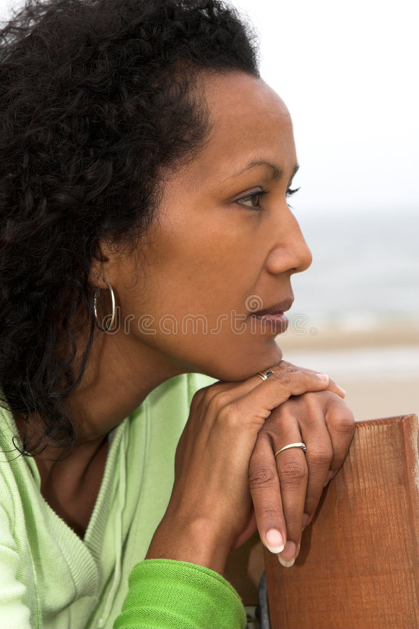 Thinking pose stock images