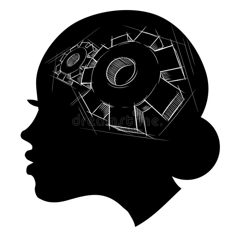 Thinking process royalty free illustration