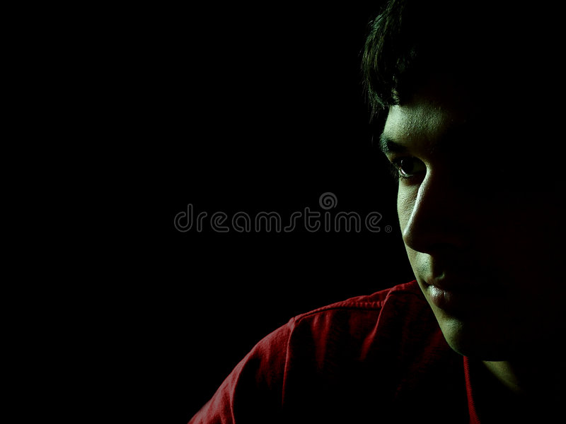 Thinking In The Shadows royalty free stock photo