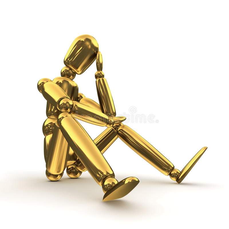 Download Thinking Shiny Gold stock illustration. Image of human - 11656010