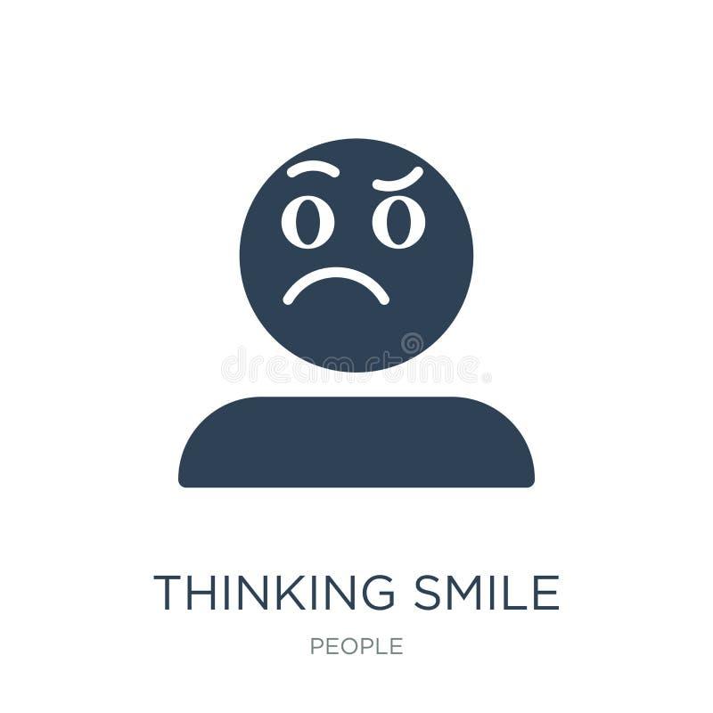 thinking smile icon in trendy design style. thinking smile icon isolated on white background. thinking smile vector icon simple vector illustration