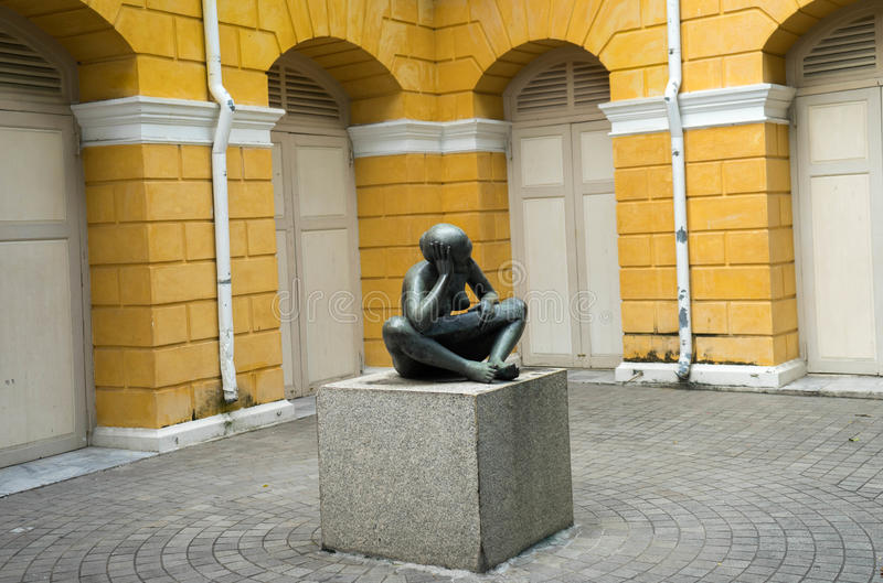 Thinking statue royalty free stock images