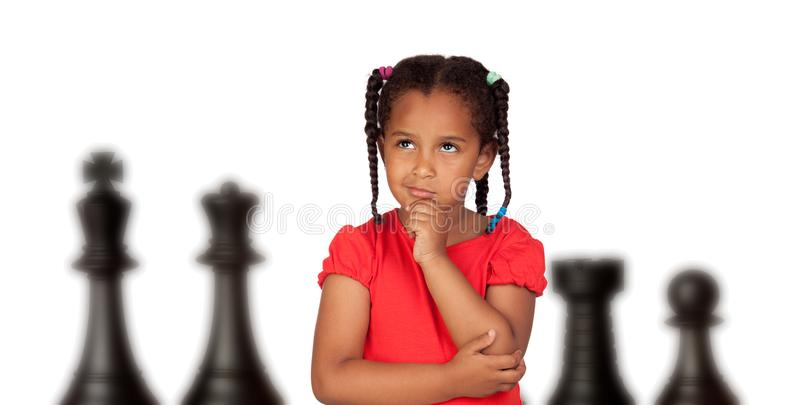 Thinking about the strategy to follow royalty free stock photo