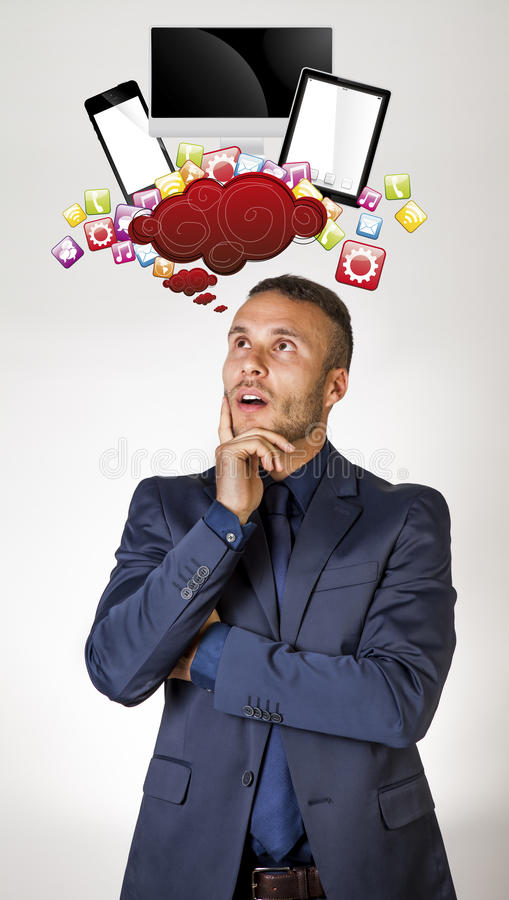 Thinking Technology Stock Image