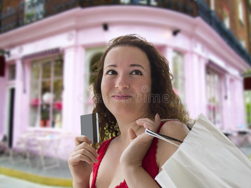 Download Thinking About Their Future Purchases Stock Image - Image of look, female: 36804879