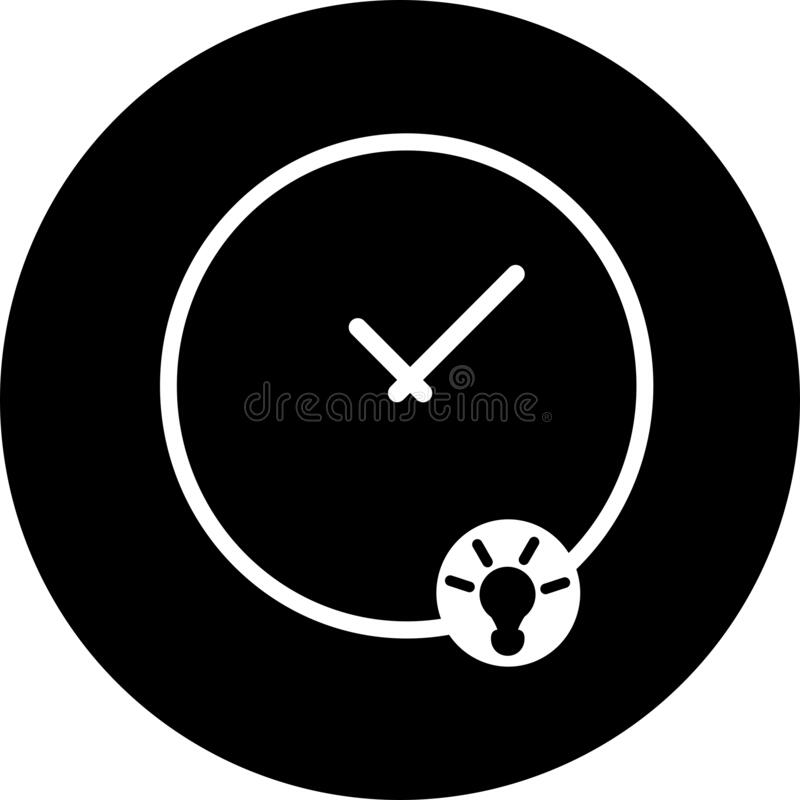 Free Thinking Time, Clock, Watch In Black Circle Icon. Concept Of UI Design Elements. Digital Countdown App, User Interface Kit, Mobile Royalty Free Stock Images - 180312969