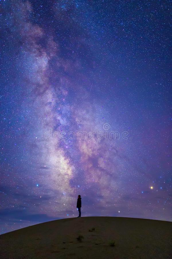 thinking under the sky royalty free stock images