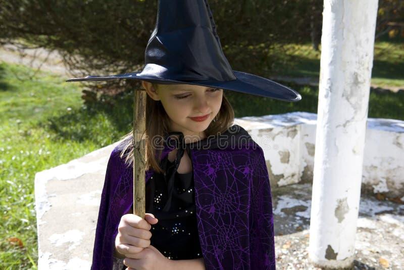 Thinking Witch stock image