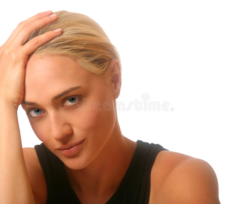 Download Thinking Woman stock image. Image of background, beautiful - 3333883