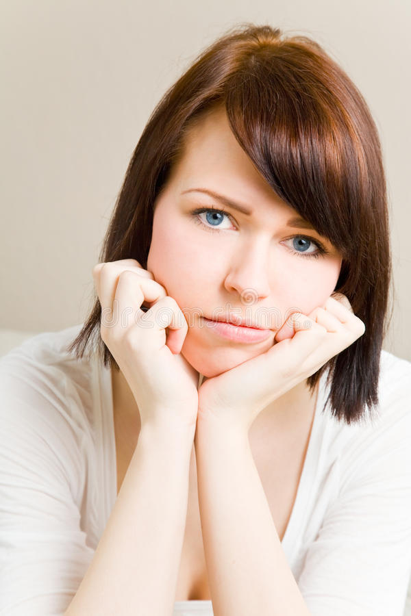 Download Thinking woman stock image. Image of throught, hair, thinking - 9567913