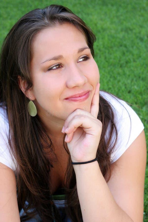 Thinking Woman. Thinking Latino Woman stock image