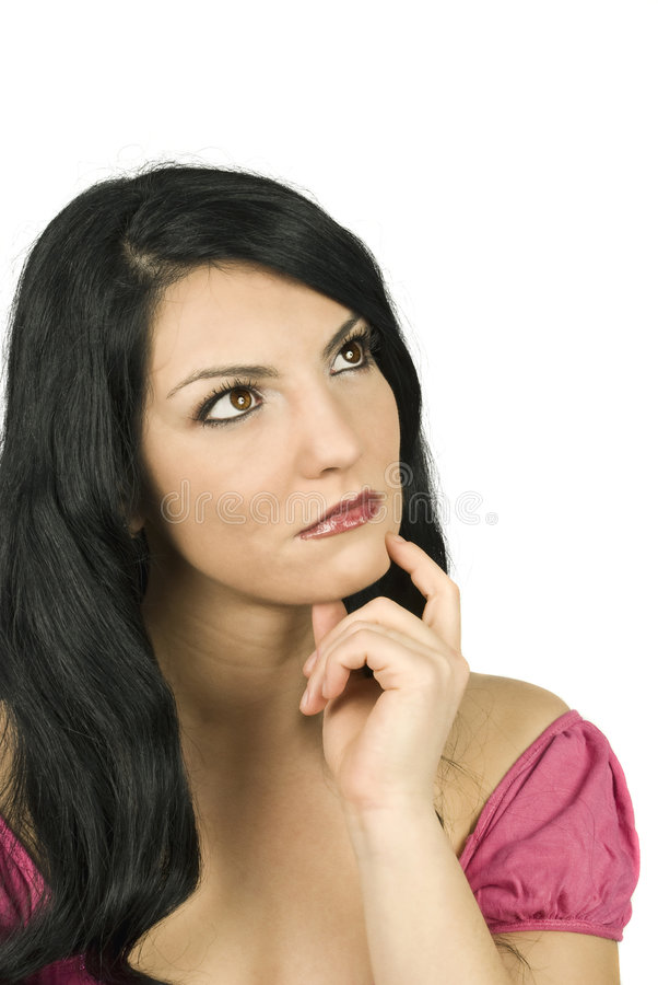 Download Thinking Woman Lost In Thought Stock Photo - Image of attentively, female: 8232852
