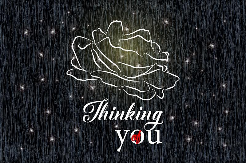 Thinking of you - card royalty free illustration
