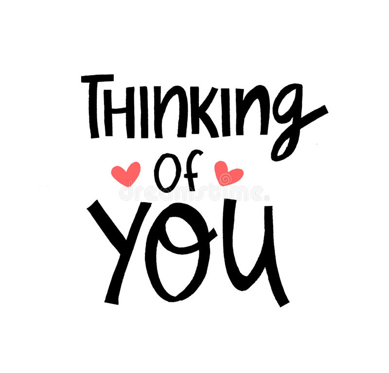Thinking of you reminder message for best friends. royalty free stock photography
