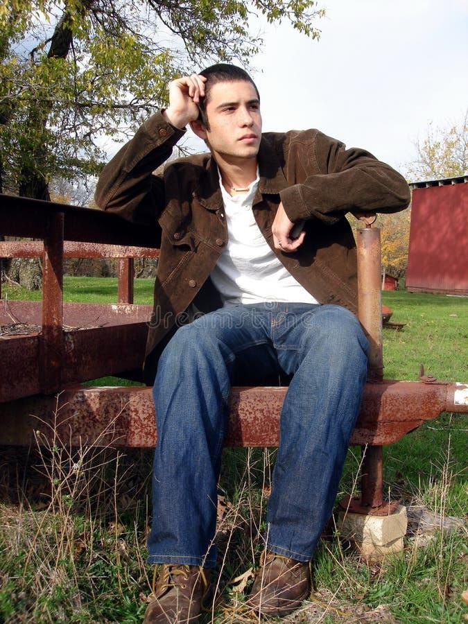 Thinking Young Man stock photos