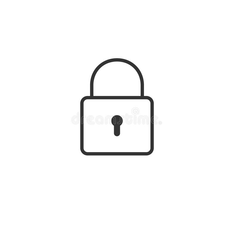 Thinline lock icon stock illustration