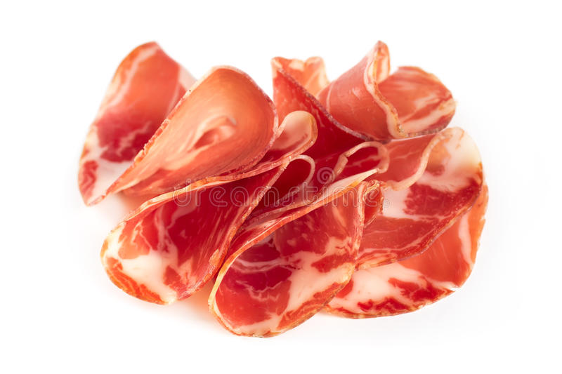 Thinly sliced âEUR stock image
