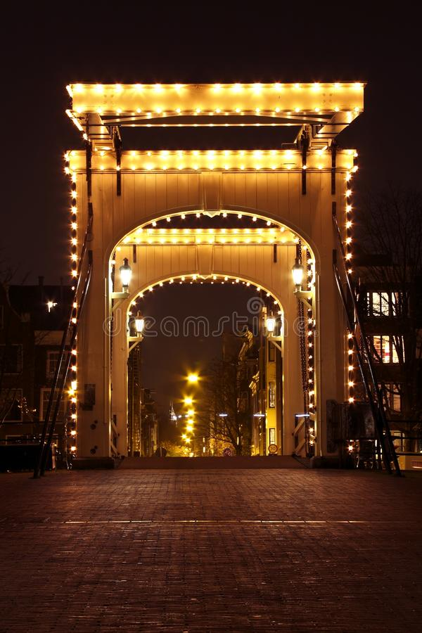 Download Thiny Bridge By Night In Amsterdam Netherlands Stock Photo - Image of late, street: 11863844