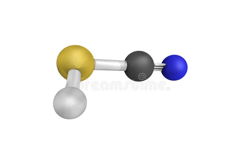 Thiocyanic acid, a chemical compound which exists as a tautomer royalty free stock image