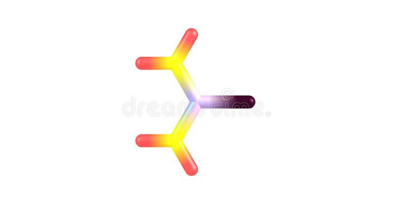 Thioharnstoffmolekülstruktur lokalisiert auf Weiß lizenzfreie abbildung