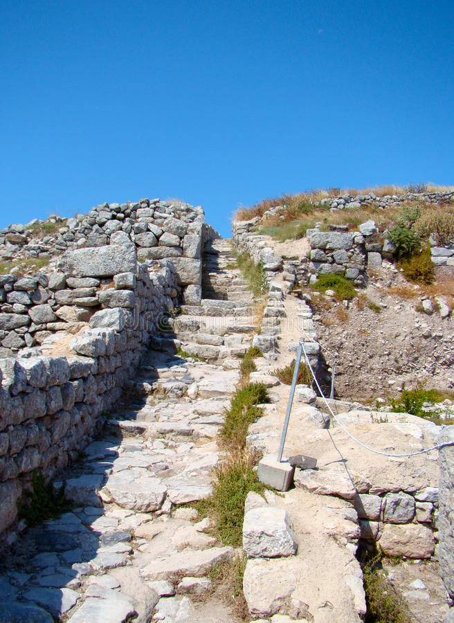 Thira antique, Santorini, Grèce photographie stock