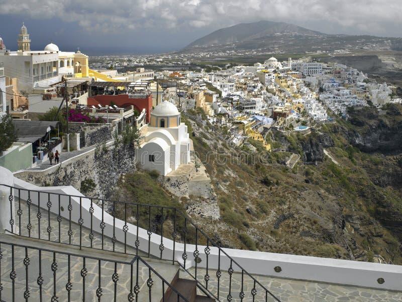 Thira na wyspie Santorini, Grecja - obraz stock