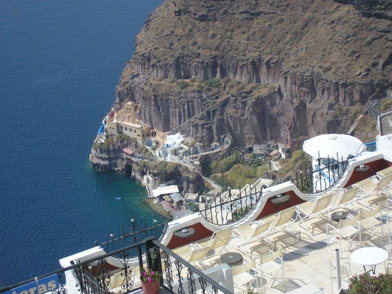 Thira Santorini arkivfoton