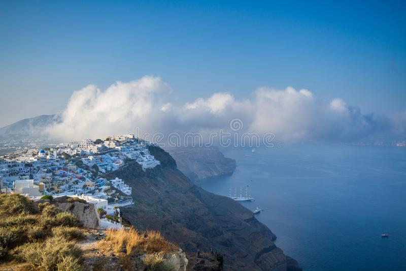 Thira town on Santorini royalty free stock photography
