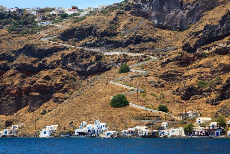 Thirasia wyspa Santorini Grecja Europa zdjęcie stock