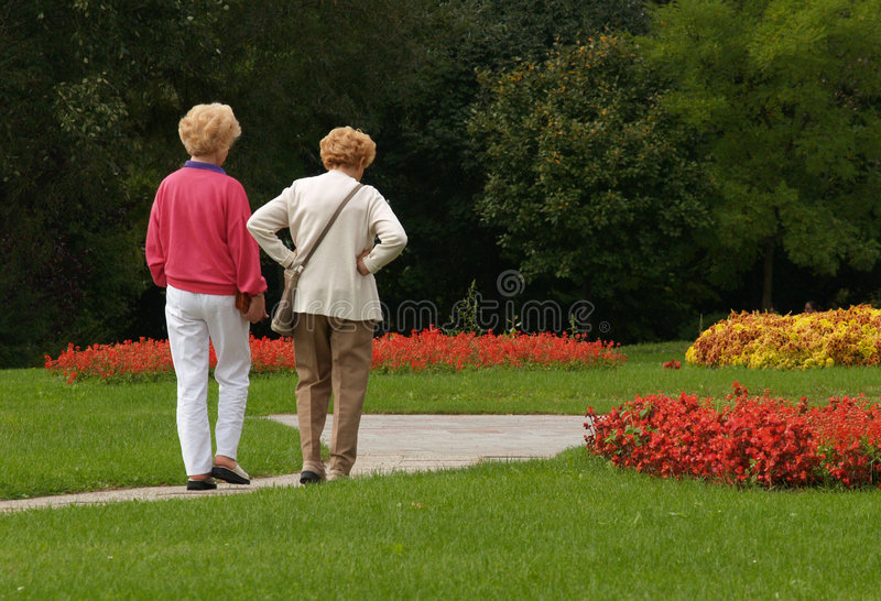 Third Age Walking stock photography