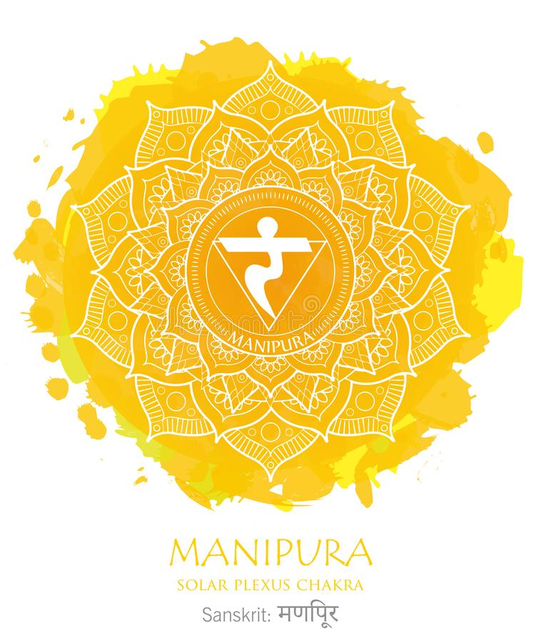 Manipura chakra vector stock image