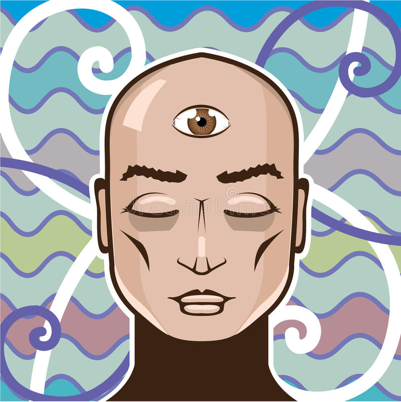 Third Eye vector Illustration royalty free illustration