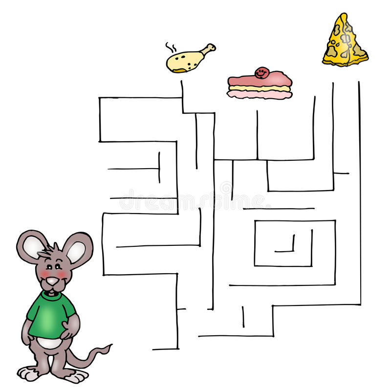 Download The Third Game, The Labyrinth Of The Mouse Stock Illustration - Image: 14370598