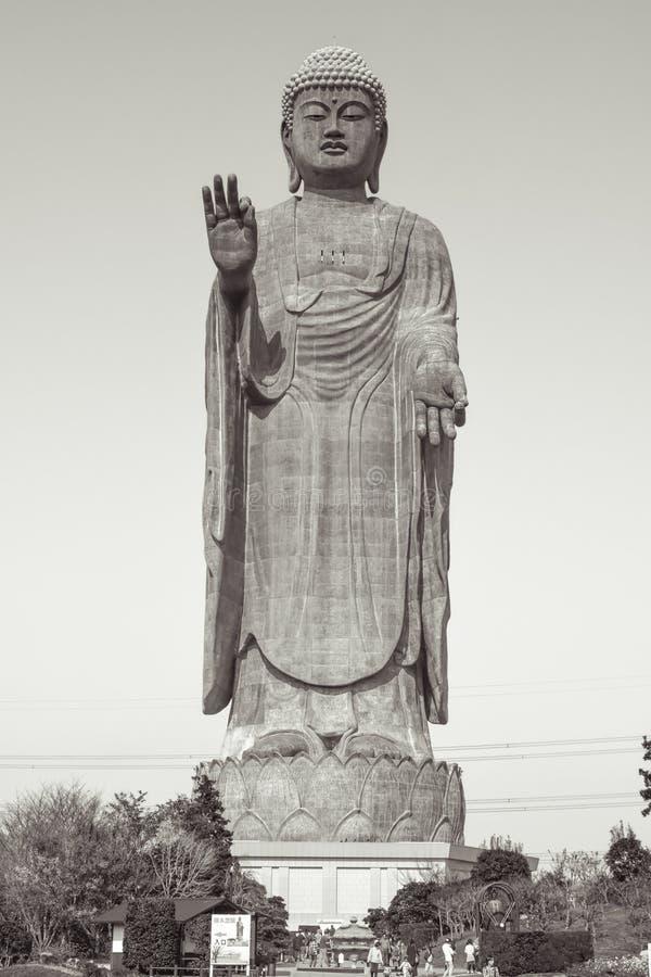 Third largest Buddha statue in the World the Ushiku Daibutsu Big Buddha. In Japan royalty free stock photo