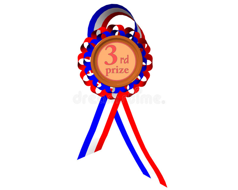 Download Third prize medal stock illustration. Image of icon, second - 7254785