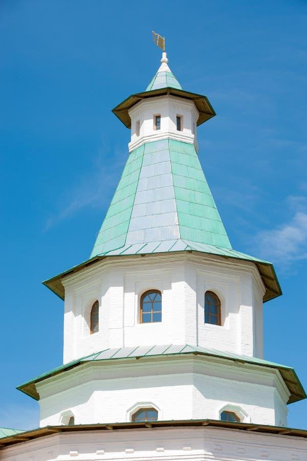 Third watchtower of the Resurrection New Jerusalem Monastery royalty free stock photo