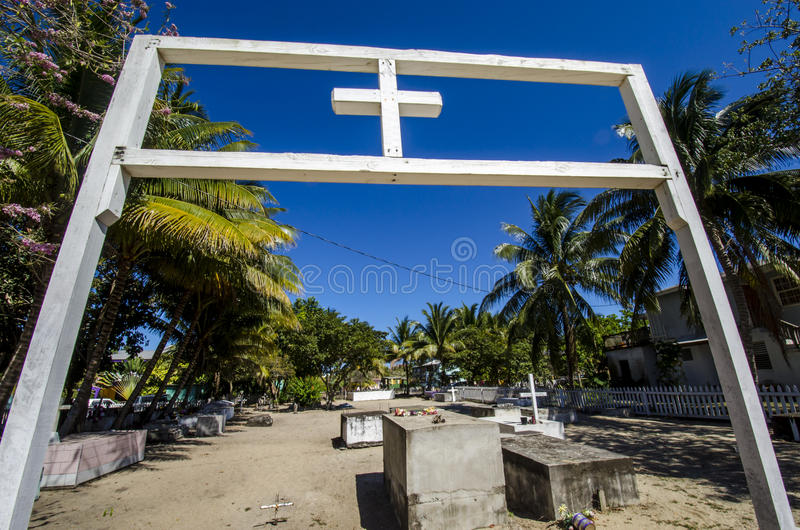 Third world Cemetery. This is how cemeteries in the third world look royalty free stock photography