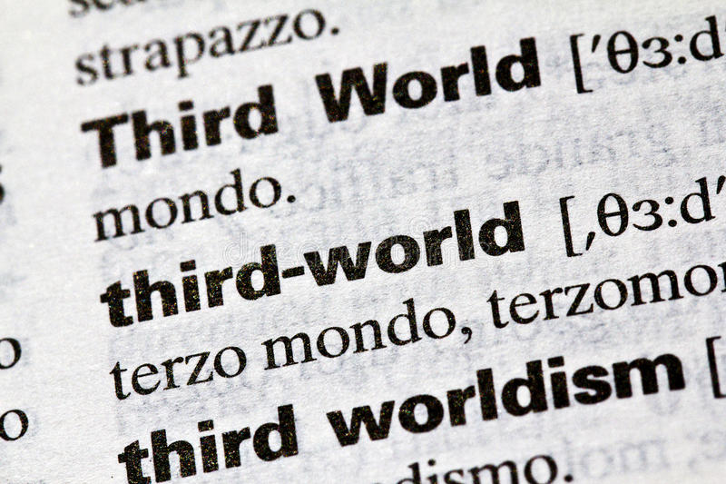 Third World. Literal definition, english royalty free stock photos