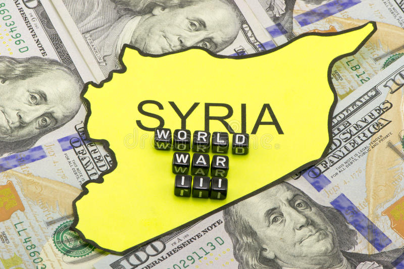 The third world war in Syria. The third world war because Syria stock photography