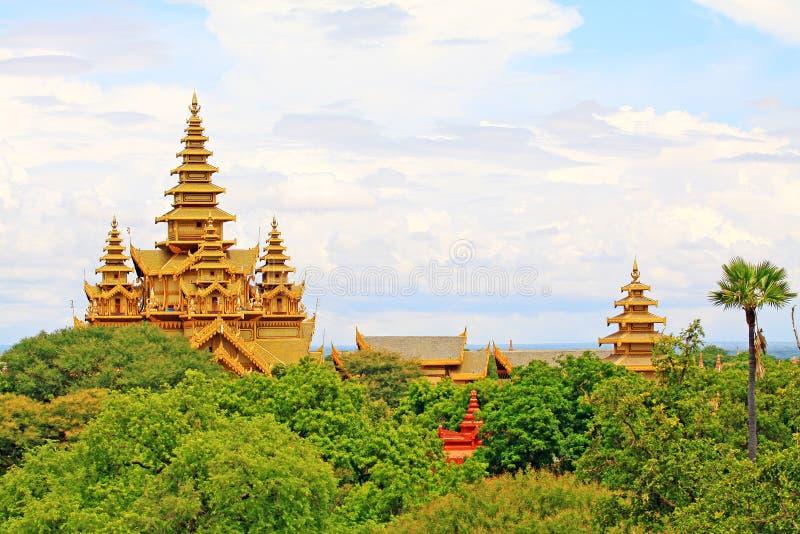 Thiri Zaya Bumi Bagan Golden Palace, Bagan, Myanmar royalty-vrije stock fotografie
