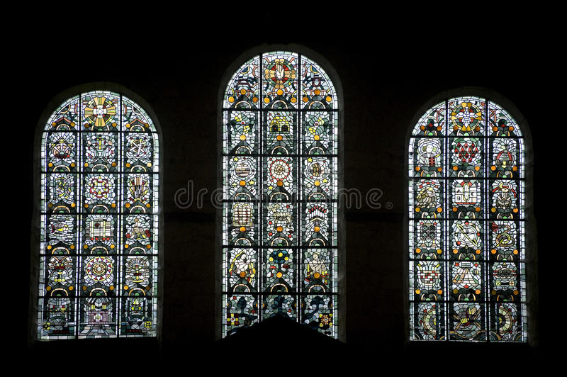 Download Thiron-Gardais, Stained Glass Stock Photo - Image: 26689380