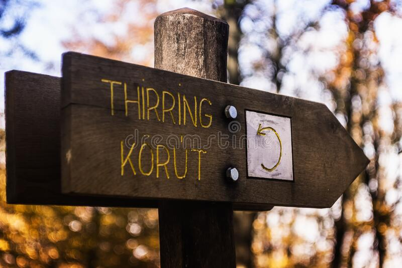 Thirring Korut Drewniany Signage obrazy royalty free