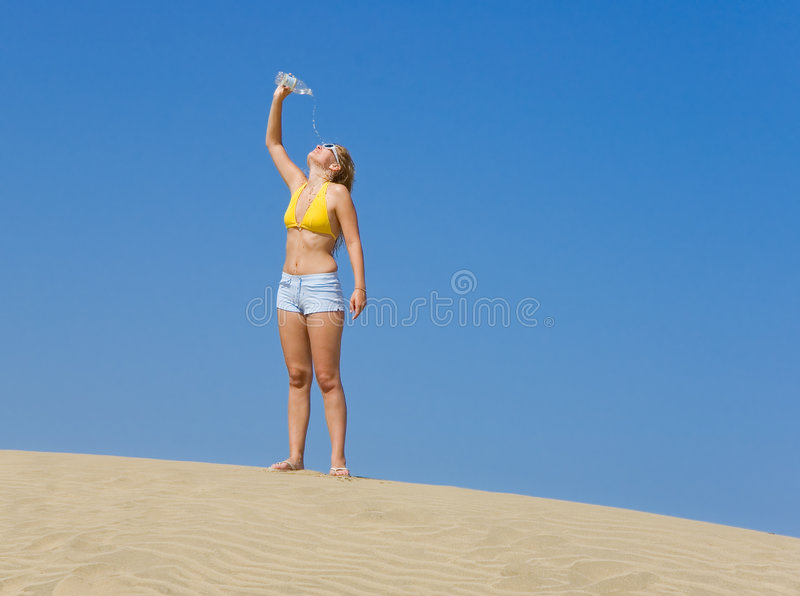 Download Thirsty stock photo. Image of suntan, sandy, person, sunglasses - 2681370