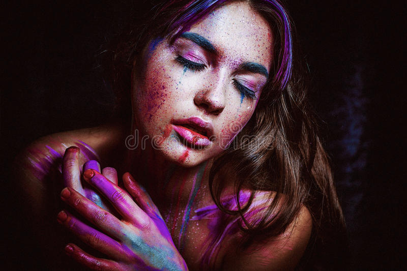Thirsty for Colors royalty free stock images