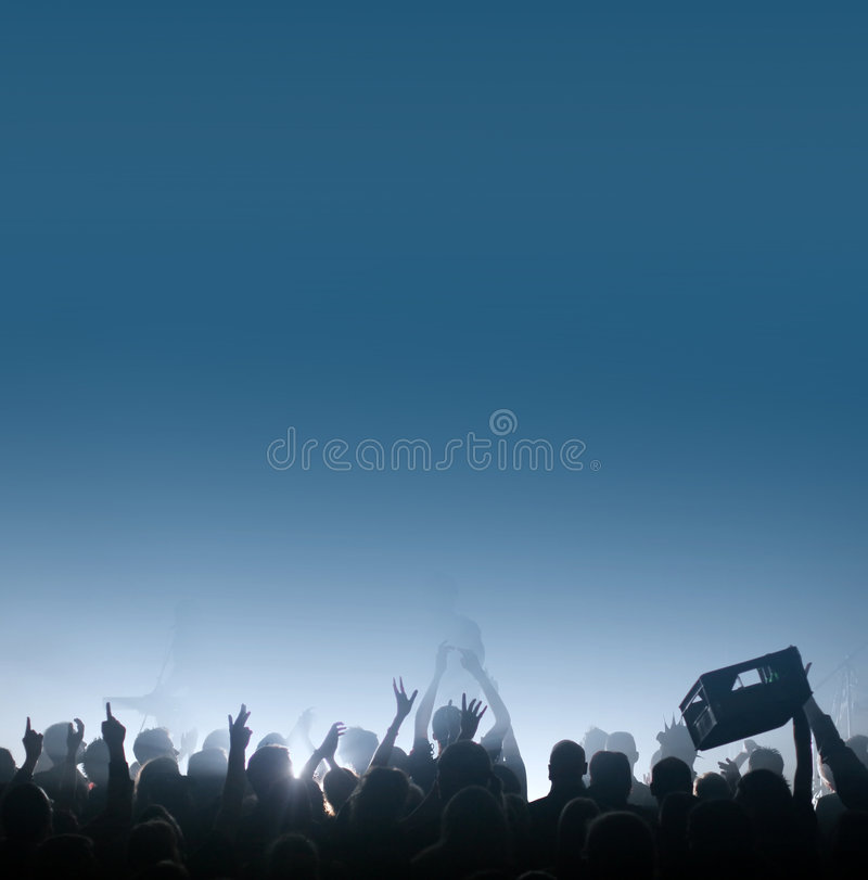 Download Thirsty Crowd at concert stock image. Image of music, entertainment - 8790025
