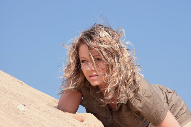 Download Thirsty Girl Looking For Water Stock Image - Image: 9223831