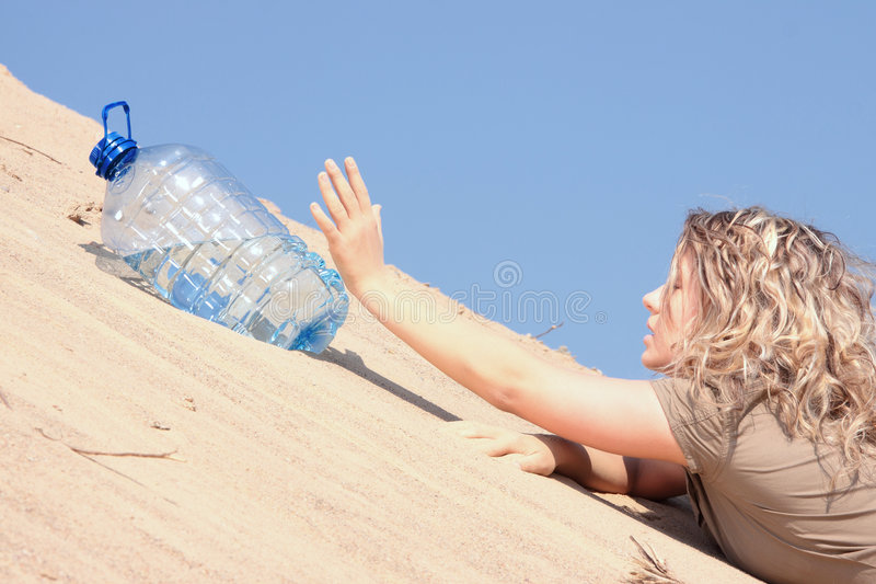 Download Thirsty Girl Looking For Water Stock Photo - Image: 9304592