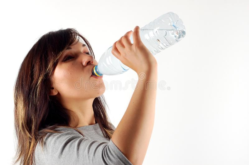 Thirsty woman #7 stock image