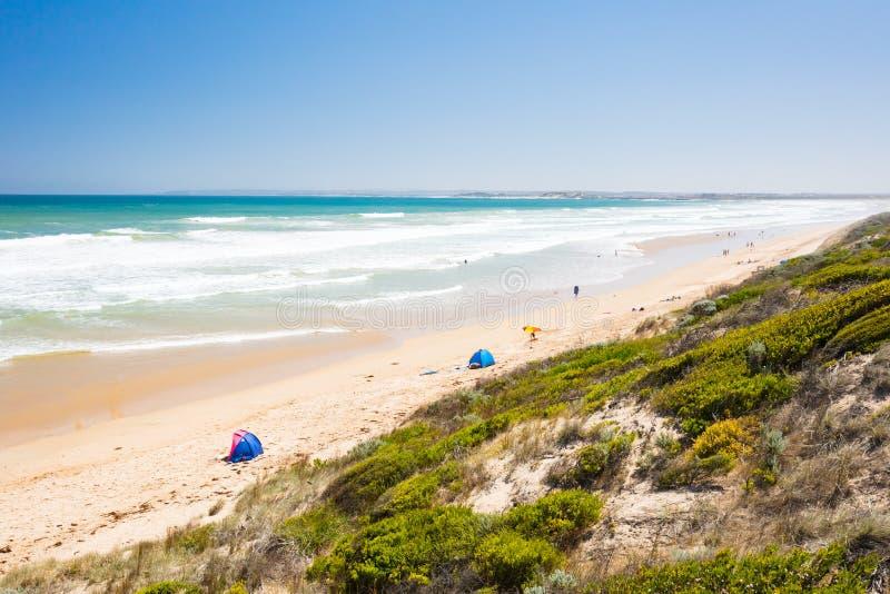Thirteenth plaża w Barwon głowach zdjęcie royalty free