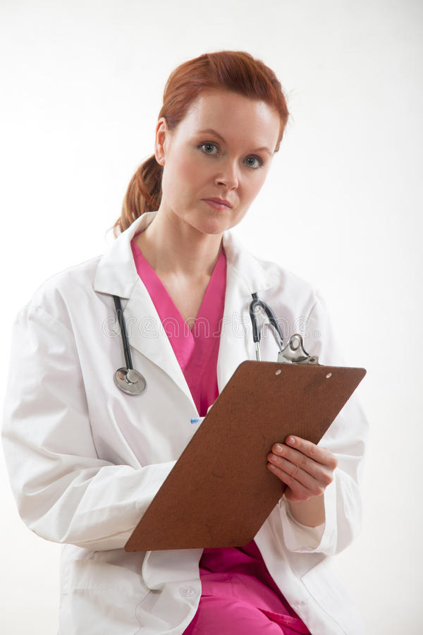 Thirties Female Confident Caucasian Doctor Royalty Free Stock Image